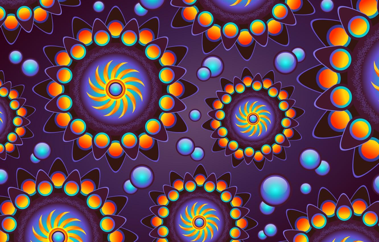 Фото обои пузыри, фон, графика, текстура, геометрия, digital art