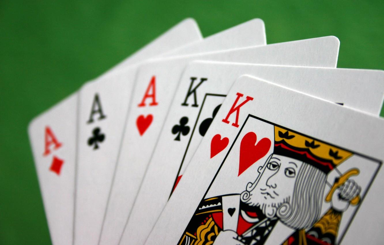 Фото обои карты, туз, покер, король, выигрыш
