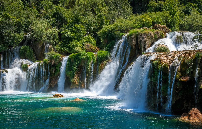 Фото обои водопады, Хорватия, Krka National Park