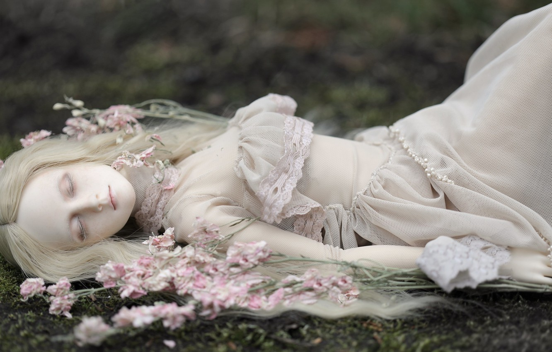 Обои Кукла, цветы. Разное foto 18