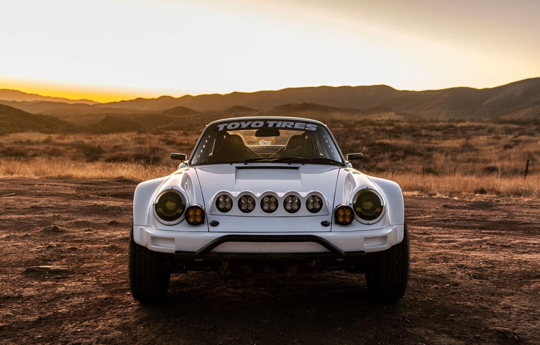 Фото обои 911, Porsche, люстра, вид спереди, 964, 2019, 911 Baja Prototype, Russell Built Fabrication