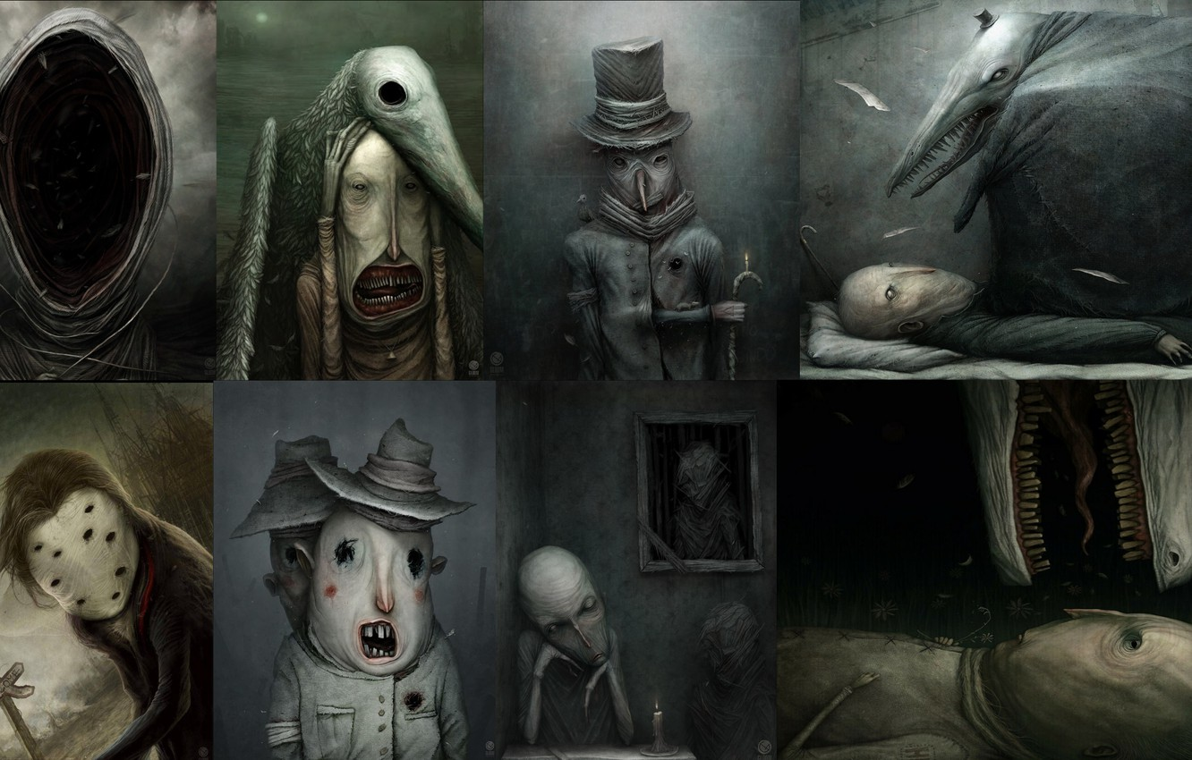 Фото обои horror, art, creepy, surreal, anton semenov