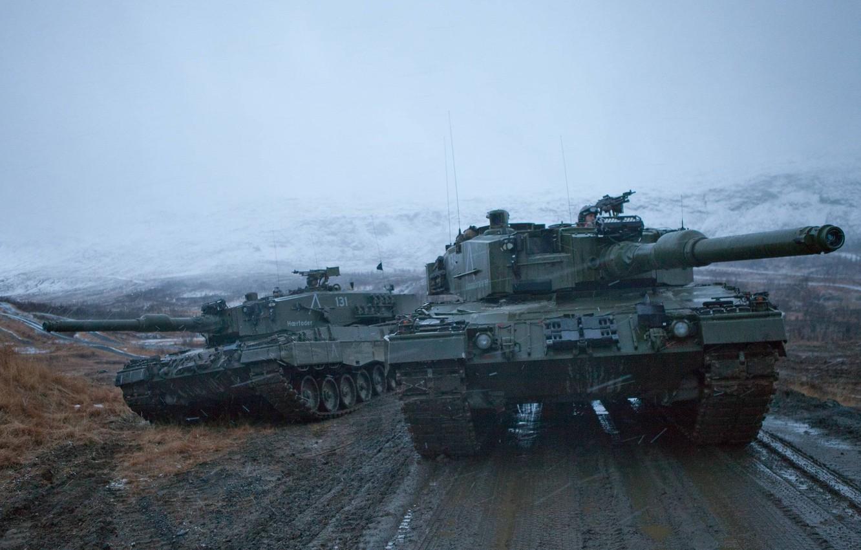 Фото обои Танки, Leopard 2A4, Танковые Войска, Вооруженные Силы