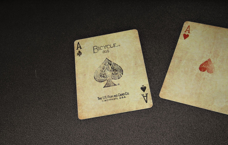 Фото обои карты, покер, 2 туза