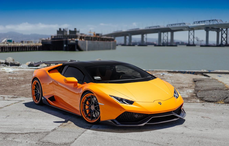 Фото обои Lamborghini, Orange, VAG, Performante, Huracan
