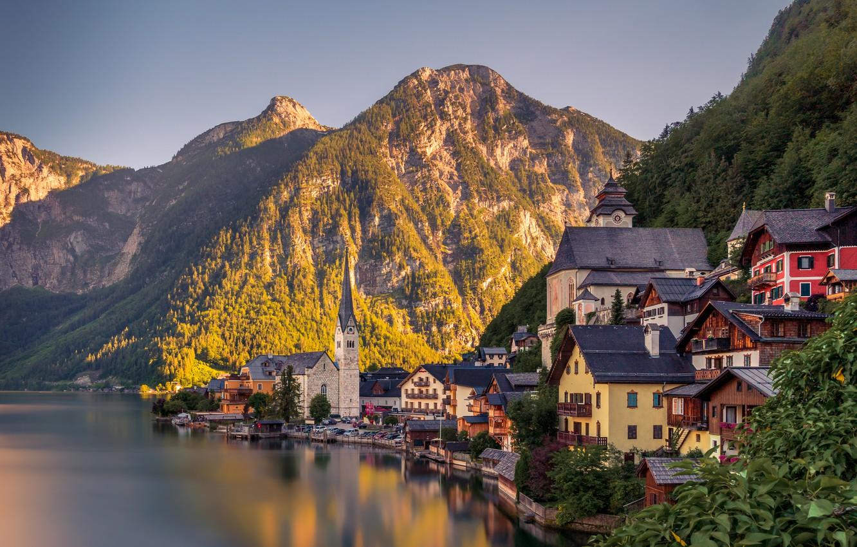 Обои австрия, гальштат, городок. Города foto 7