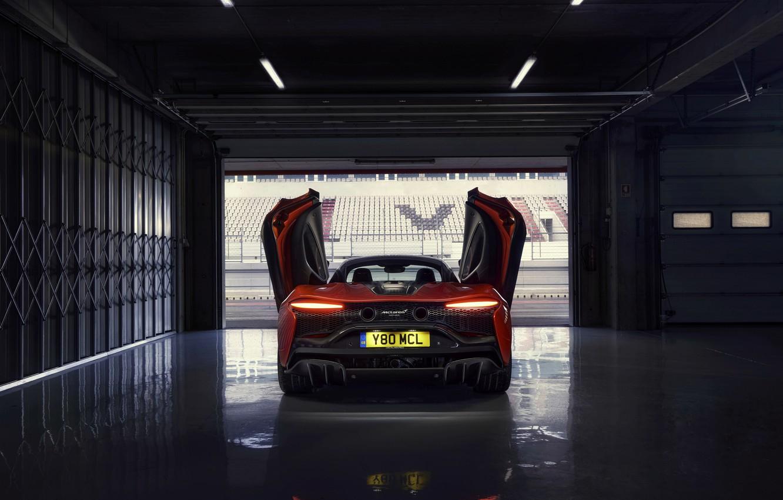 Фото обои McLaren, двери, фонари, бокс, сзади, 3.0 л., 2021, Artura, V6 twinturbo