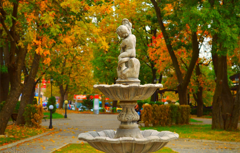 Фото обои Осень, Парк, Fall, Park, Autumn
