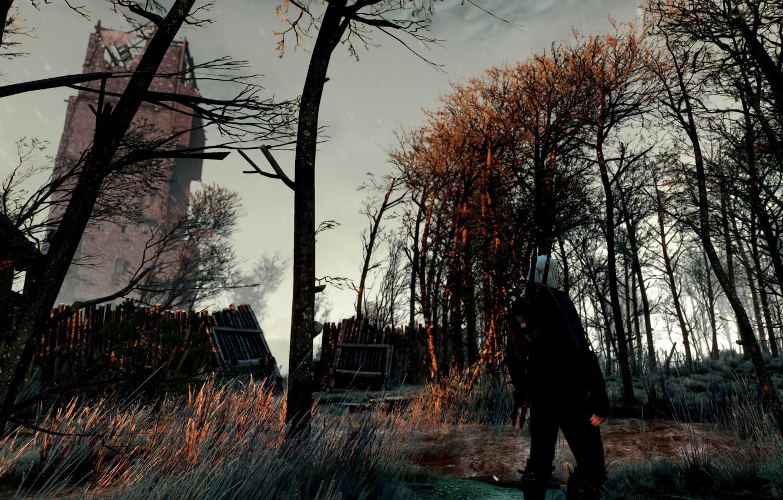 Фото обои The Witcher 3, Geralt From Rivia, Коломница