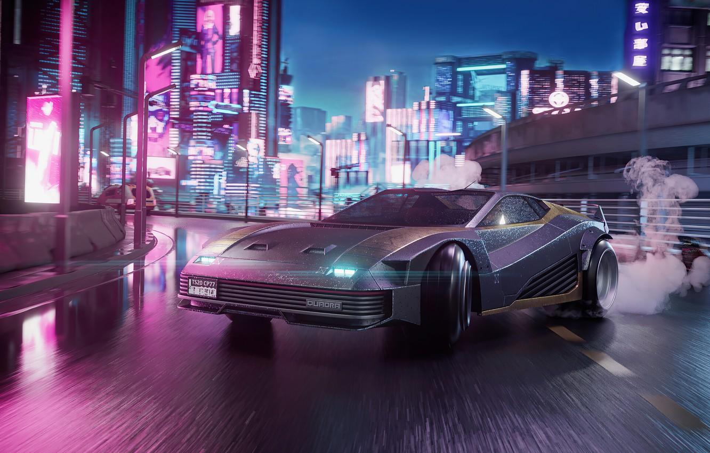 Фото обои Игры, Машины, Cyberpunk 2077, Quadra V-Tech