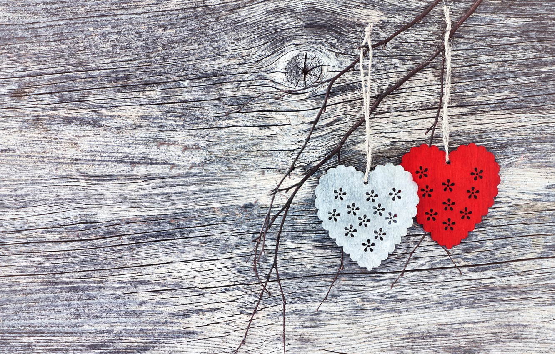 Фото обои любовь, сердце, сердечки, red, love, wood, romantic, hearts, valentine's day