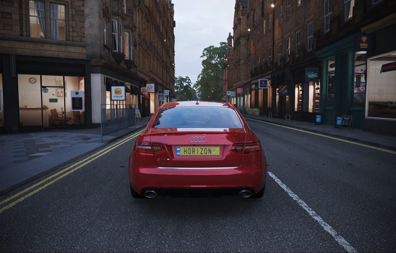 Фото обои Street, England, Audi RS6, Forza Horizon 4