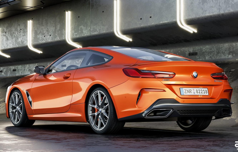 Фото обои Авто, BMW, Машина, Оранжевый, Coupe, Рендеринг, BMW 8 Series, M850i, Zoki Nanco, by Zoki Nanco, ...