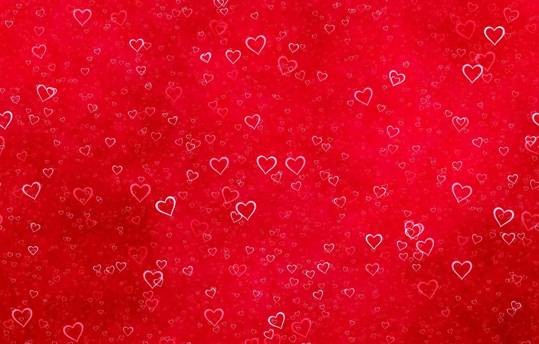 Фото обои красный, текстура, сердечки