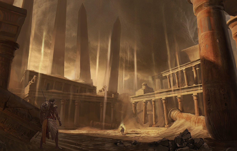 Фото обои мультиплатформенная компьютерная игра, Assassin's Creed Origins, Eddie Bennun, The Curse of the Pharaohs