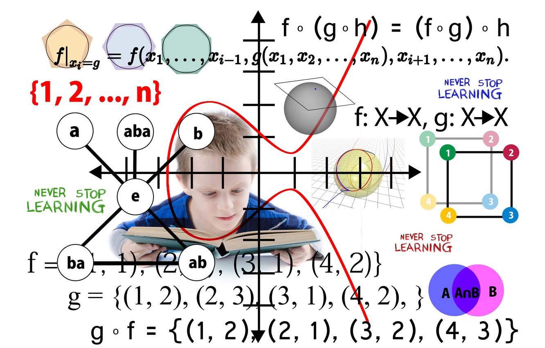 Фото обои книга, формулы, школа, фигуры, графики, скоро в школу