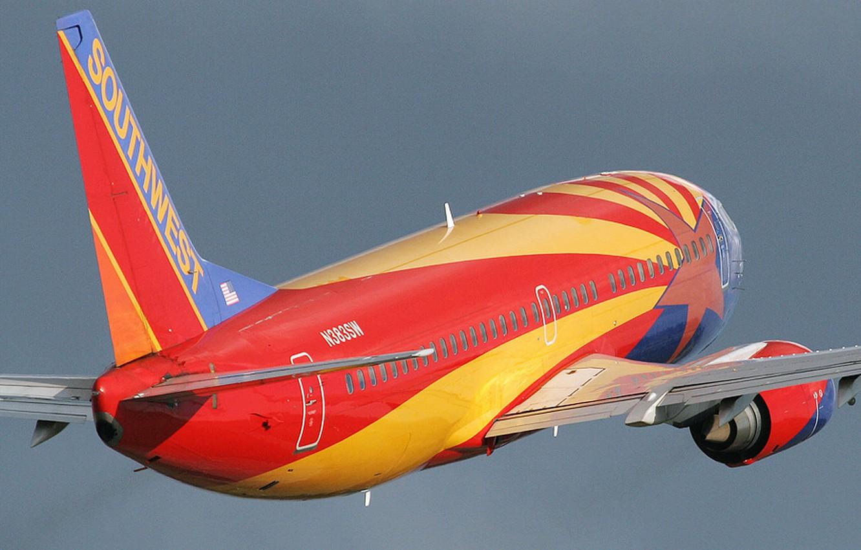 Фото обои полет, самолет, лайнер