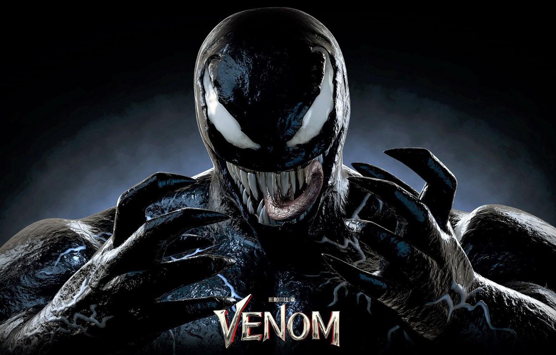 Фото обои язык, фон, злость, Веном, Venom
