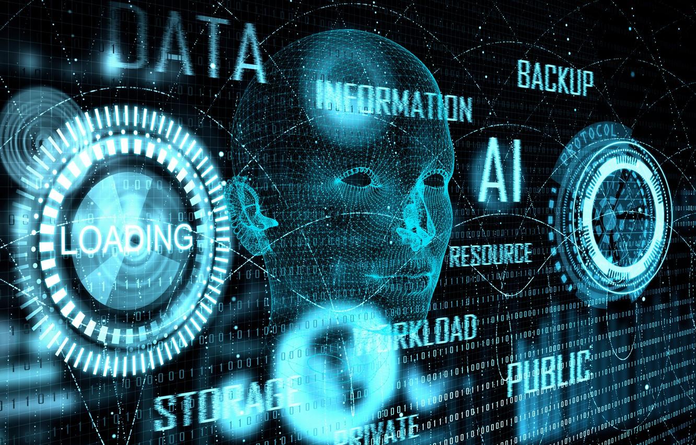 Фото обои глаза, линии, круги, информация, лицо, буквы, фон, человек, данные, цифры, матрица, бирюзовый, электроника, слова, отпечаток, ...
