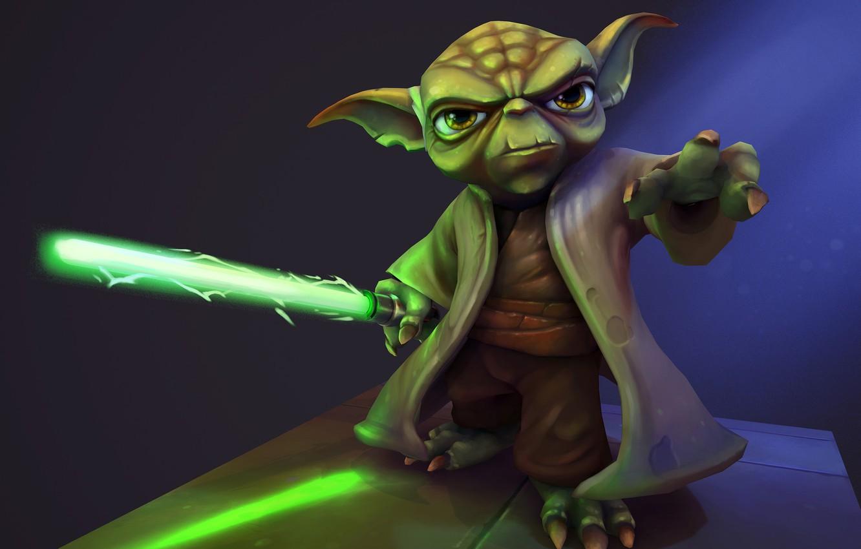 Фото обои фантастика, арт, Riot Games, Ayhan Aydogan, Yoda - Star Wars Fan Art