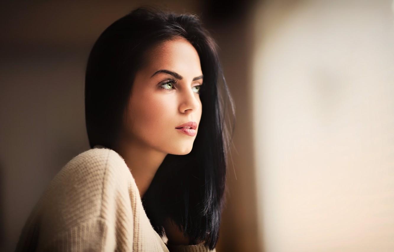 Фото обои girl, green eyes, woman, model, face, Black Hair, Marlen Valderrama Alvarez