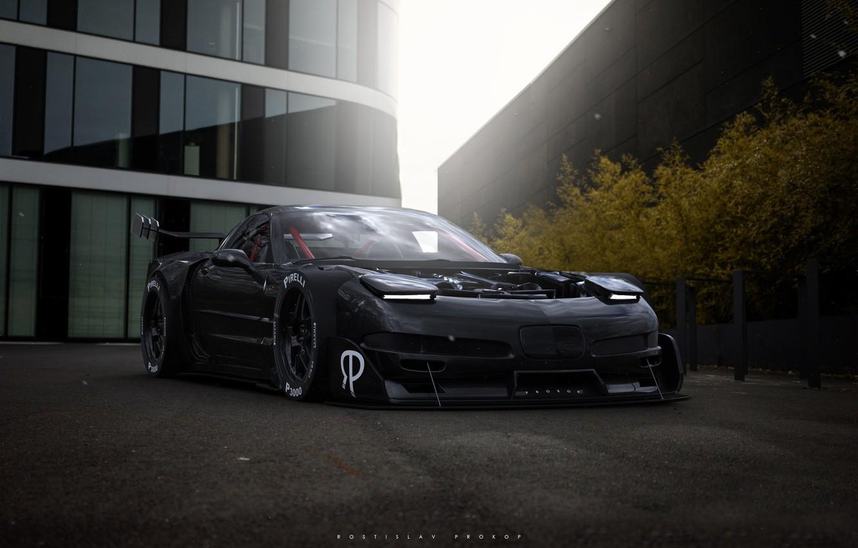 Фото обои Авто, Corvette, Chevrolet, Машина, Chevrolet Corvette, Рендеринг, Concept Art, Спорткар, Transport & Vehicles, Chevrolet Corvette ...