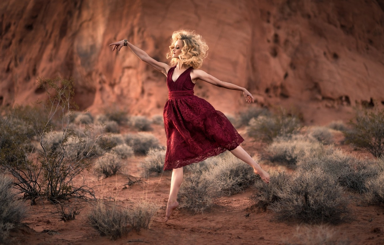Фото обои природа, танец, балерина