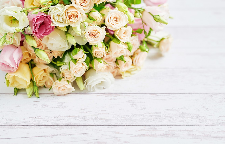 Фото обои белый, цветы, фон, розы, букет