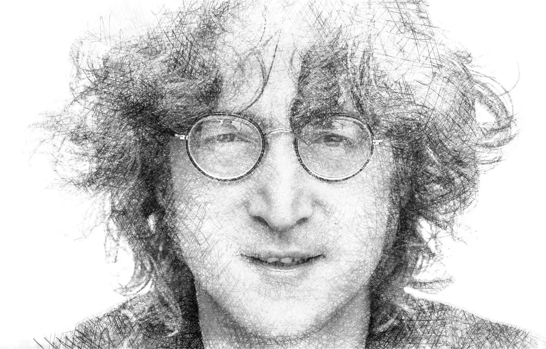 Фото обои портрет, очки, музыкант, Джон Леннон, Биттлз