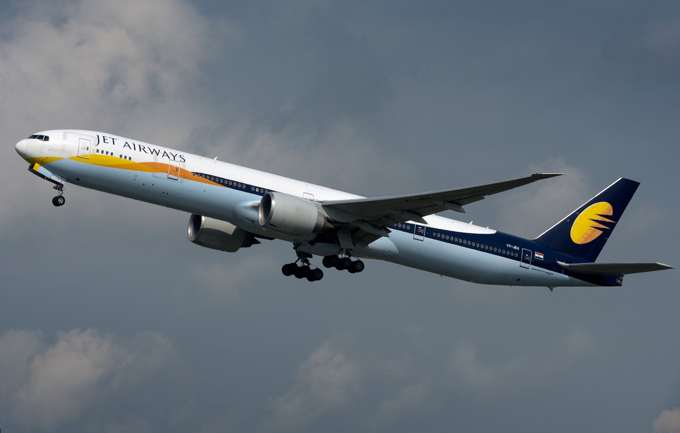 Фото обои Boeing, 777-300ER, Jet Airways