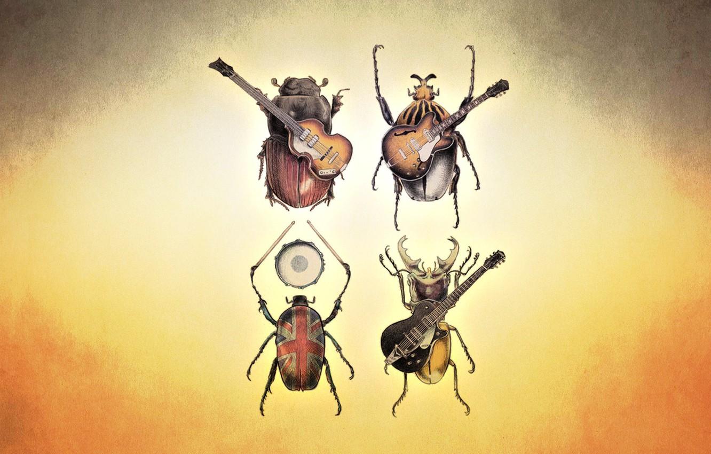 Фото обои группа, жуки, рок, ливерпуль, четверка, рок группа, the beatls