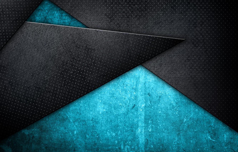 Фото обои абстракция, текстура, геометрия, Blue, Abstract, style, blue, background, Grunge, Texture, metallic, shade