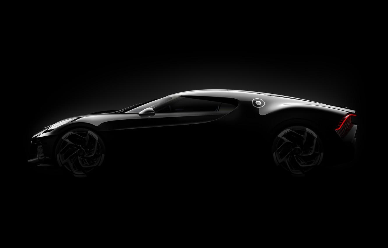 Фото обои Bugatti, гиперкар, 2019, La Voiture Noire