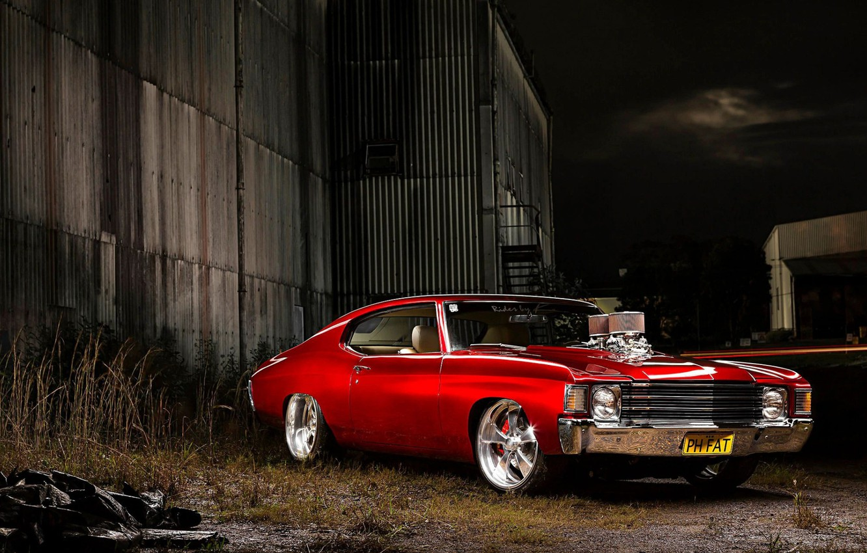 Фото обои Chevrolet, Coupe, Chevelle, Muscle car, Custom, Vehicle