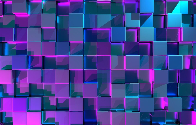 Фото обои фон, текстура, куб, Абстракция