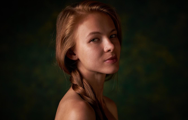 Фото обои портрет, веснушки, коса, прелесть, Катерина Ткаченко, Макс Пыжик