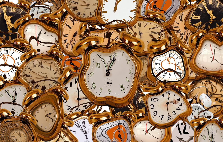 Фото обои время, часы, будильники