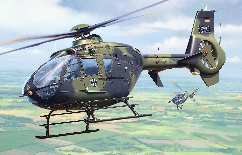 Обои Eurocopter, многоцелевой, as 365 n2, dauphin 2. Авиация foto 13