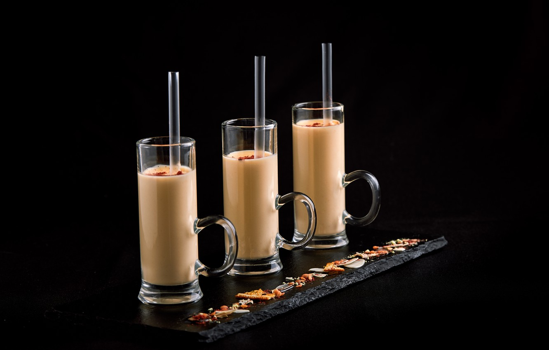 Фото обои коктейль, стаканы, молочный