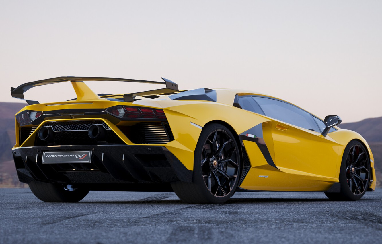 Фото обои Авто, Lamborghini, Машина, Car, Жёлтый, Aventador, Lamborghini Aventador, Спорткар, SVJ, Transport & Vehicles, Lamborghini Aventador …