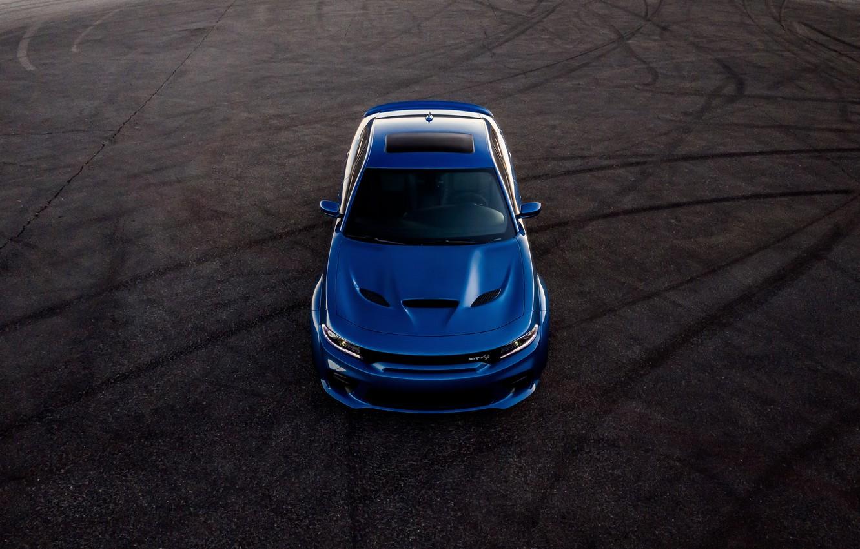 Фото обои машина, Dodge, Charger, Hellcat, SRT