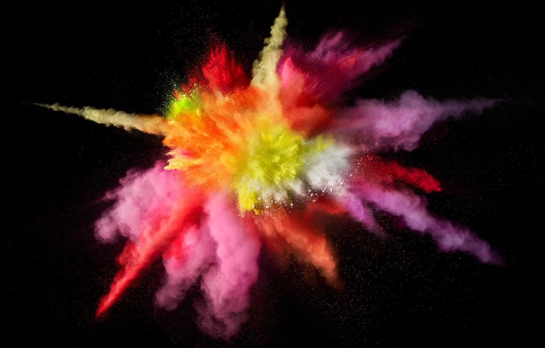 Фото обои Apple, Mac os, macOS, Color Burst, 5K, Цветной взрыв