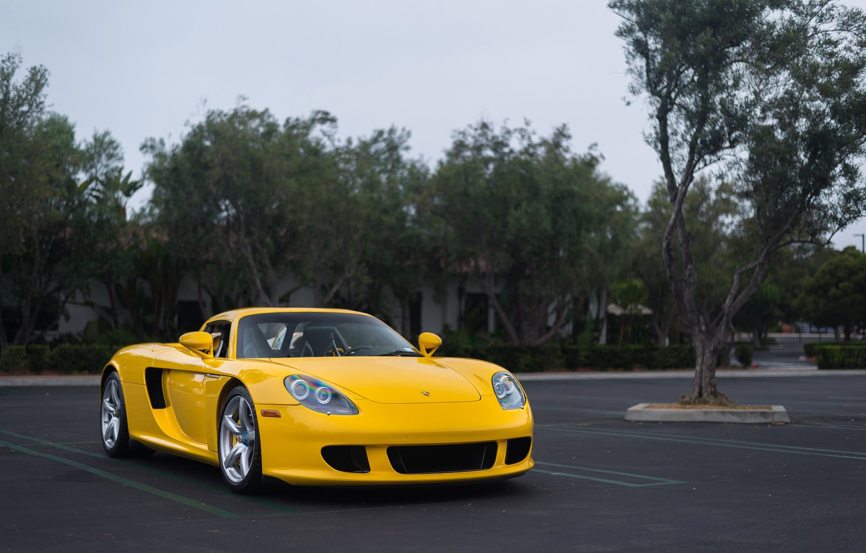 Фото обои Porsche, Carrera, Yellow