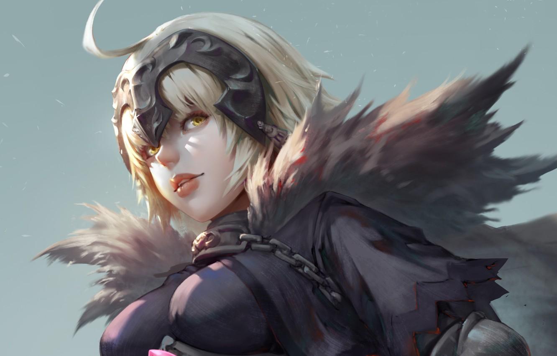 Фото обои girl, fantasy, anime, blonde, digital art, artwork, warrior, yellow eyes, Avenger, fantasy girl, anime girl, …