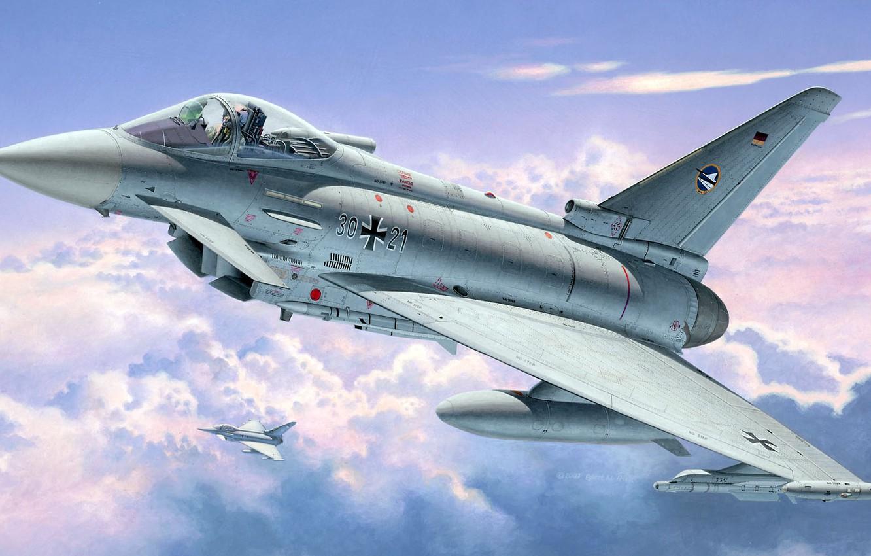 Обои самолеты, Eurofighter typhoon. Авиация foto 19