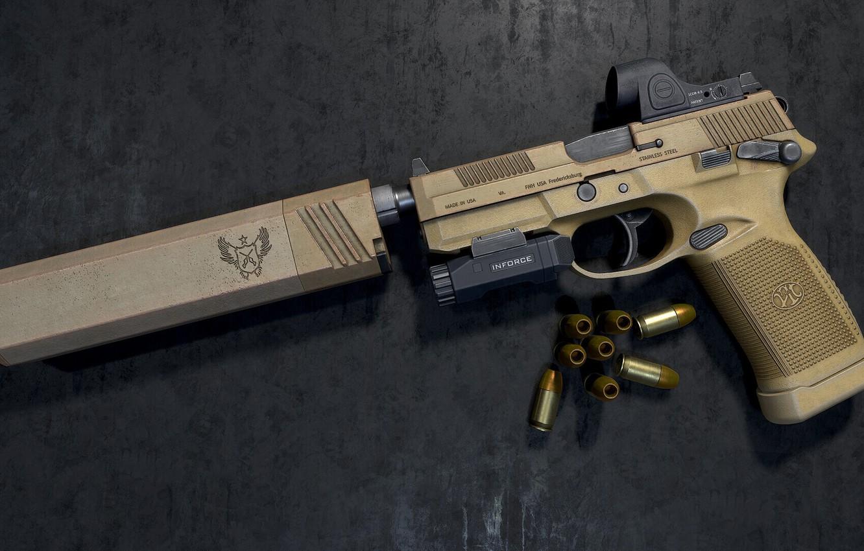 Фото обои пистолет, оружие, pistol, weapon, FN FNX-45