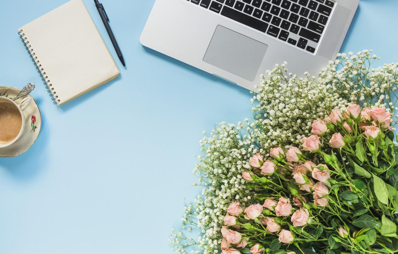 Картинки кофе и цветы ноутбук