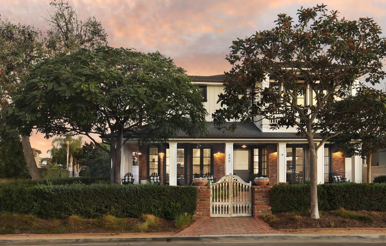 Фото обои фото, Дизайн, Город, Деревья, Дом, Кусты, США, Особняк, Newport Beach