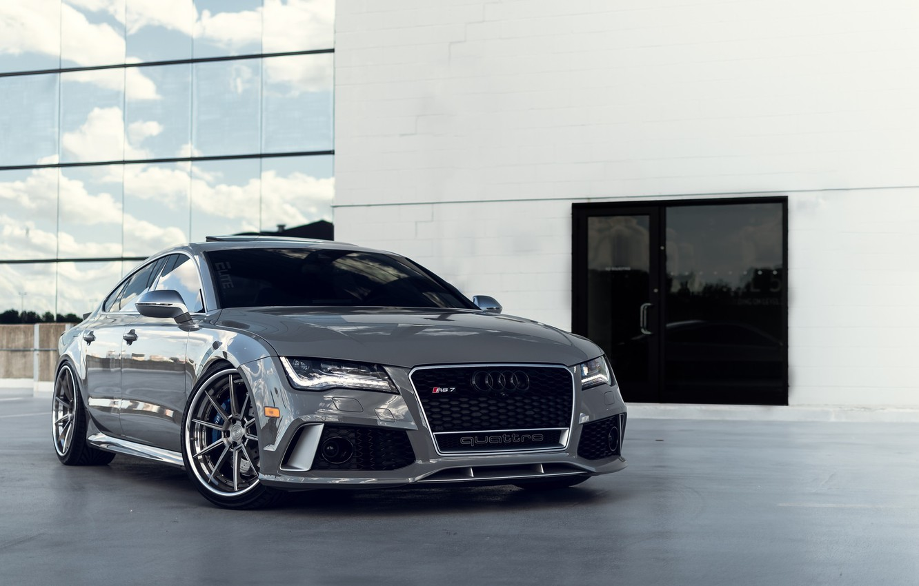 Фото обои Audi, Quattro, Silver, VAG, RS7, Sight