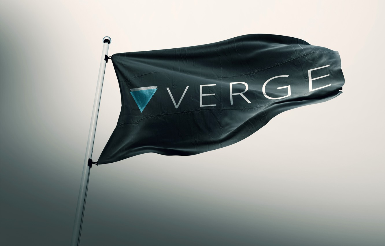 Фото обои флаг, flag, криптовалюта, cryptocurrency, verge, xvg